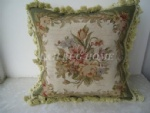 Needlepoint Cushion, handmade cushion cover, handmade woolen pillow cover