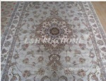 6'X9' 160 Line Wool and silk Oriental Persian carpet handmade rug