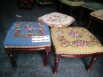 Small stool with Needlepoint cover
